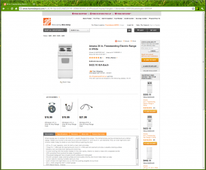 Amana Range from TheHomeDepot.com - regular sales price is raised while it is on sale